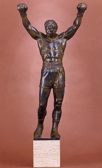ROCKY #3 - original bronze statue by Thomas Schomberg